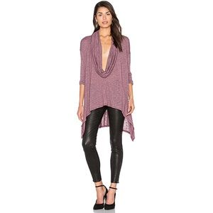 Michael Stars Long Sleeve Cowl Top